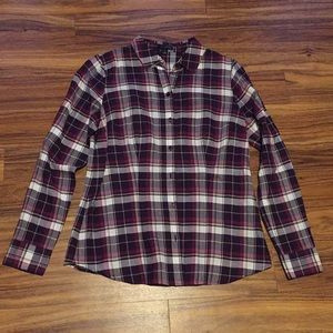 Plaid Button Down Shirt - The Limited - S